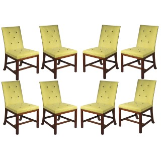Set of Eight Scottish Chippendale Laburnum Dining Chairs