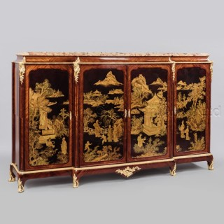 A Fine Louis XV Style Gilt-bronze Mounted Japanned Side Cabinet