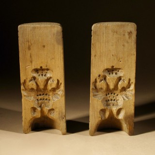 A Rare Decorative Complete Pair of Crowned Double Headed Eagle Butter or Sugar Moulds