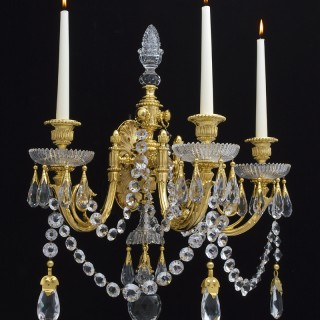 AN IMPORTANT SET OF FOUR VICTORIAN WALL LIGHTS BY PERRY & CO