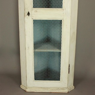 Provencal Louis XVI Painted Corner Cupboard or Encoignure