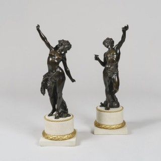 A Pair of Statues after models by Clodion