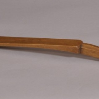 Antique Treen 19th Century Pear Wood Spoon Inscribed Mary Jones 1850