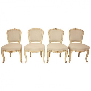 Set of Four 18th Century Louis XV Side Chairs attr. to J.B. Mouette