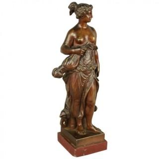 Small 19th Century Bronze Allegorical Figure representing