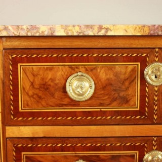 French 18th Century Louis XVI Neoclassical Commode or Chest of Drawers, Stamped by Jean Demoulin