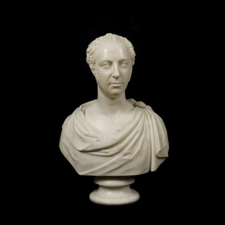 A Male Portrait Bust in the Roman Manner By Lawrence MacDonald (1799-1878)