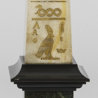 Pair of Obelisks in the Egyptian Manner By Gouault of Paris