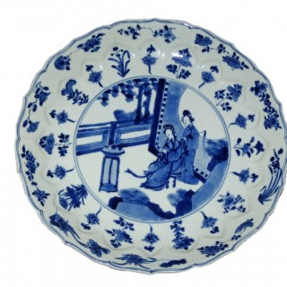 Kangxi Mark and Period Blue and white Porcelain PLate