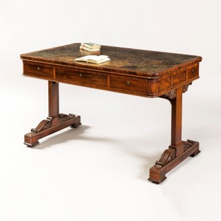 An Elegant Example of a Writing Table of the George IV Period