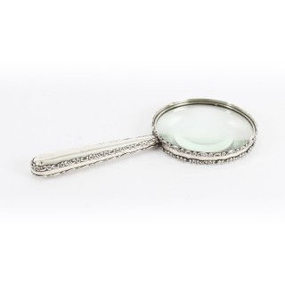 Antique Edwardian Sterling Silver Magnifying Glass 1905