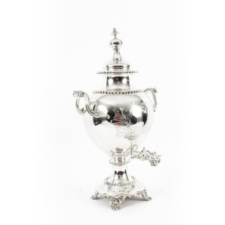 Antique English Victorian Silver Plated Samovar c.1860