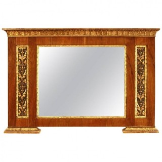 Italian Early 19th Century Empire period Overmantle Mirror