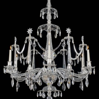 A HIGHLY IMPORTANT GEORGE III PERIOD CHANDELIER BY CHRISTOPHER HAEDY