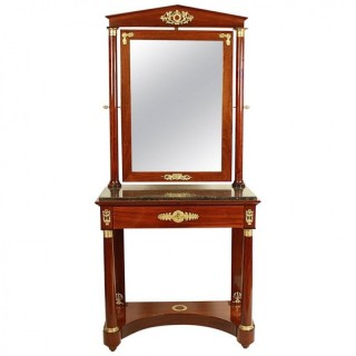French Empire Style Mahogany Dressing Table in the Manner of Jacob Desmalter (1770-1841)