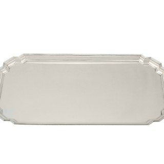 Sterling Silver Tray - Art Deco - Antique George V (1934)