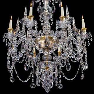 A RARE EIGHT LIGHT RUSSIAN CHANDELIER IN GEORGIAN STYLE