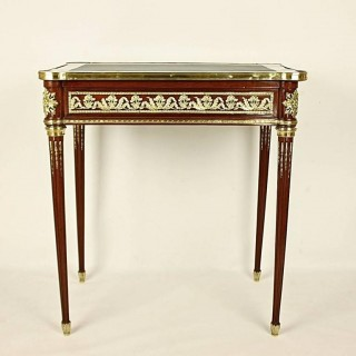 French 19th Century Louis XVI Style Mahogany Bureau Plat or Side table