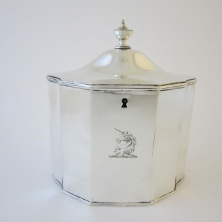 Antique George III Sterling silver tea caddy