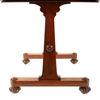 Regency Mahogany Library Table