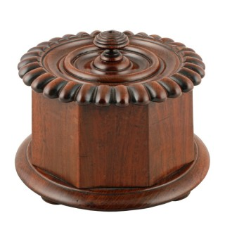 Mein of Kelso Mahogany Tobacco Caddy