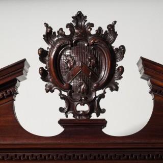 Important George II Chippendale Mahogany Bureau Bookcase