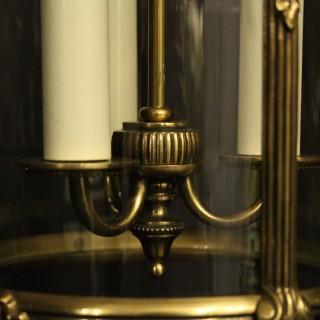 French Gilded Triple Light Antique Lantern