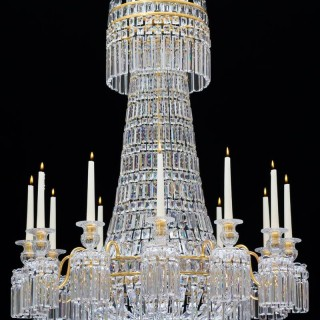 A FINE TWELVE LIGHT REGENCY CHANDELIER ATTRIBUTED TO HANCOCK & RIXON