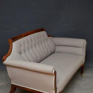 Late Victorian Mahogany Sofa