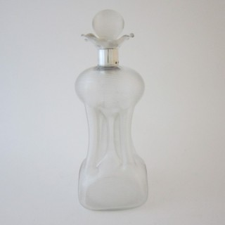 Antique Edwardian Sterling silver and glass decanter