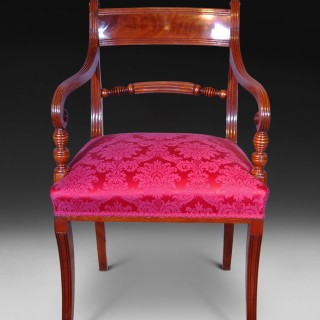 Set of 10 Regency Period Mahogany Dining Room Chairs