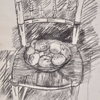 John Sergeant - Fruit on a Chair