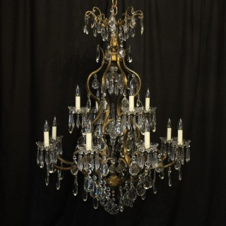 French Gilded Bird Cage Antique Chandelier