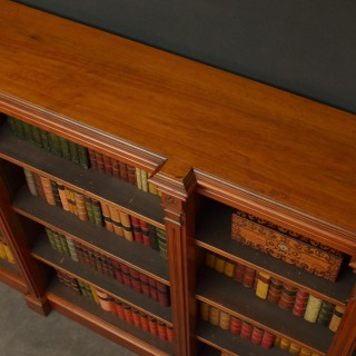 Victorian Walnut Open Bookcase