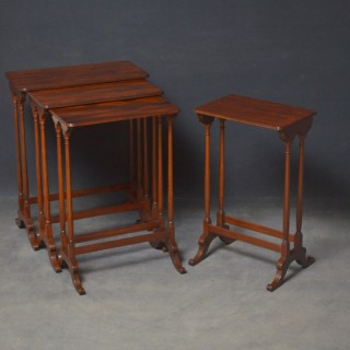 Regency Nest of 3 + 1 Mahogany Tables