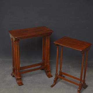 Regency Nest of 3 + 1 Mahogany Tables