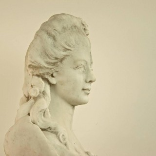 19th Century Louis XV Style Marble Bust of a young lady
