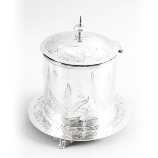 Antique Victorian Silver Plated Biscuit Sweet Box 19th C