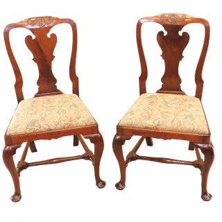 English Early Georgian Mahogany Set Of 4 Side Chairs