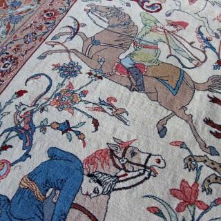 Seirafian Isfahan carpet, Persian, signed by S Seirafian