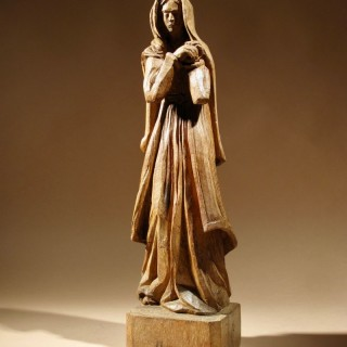 A Very Stylish And Artistic Oak Art Deco Sculpture Of a Woman.