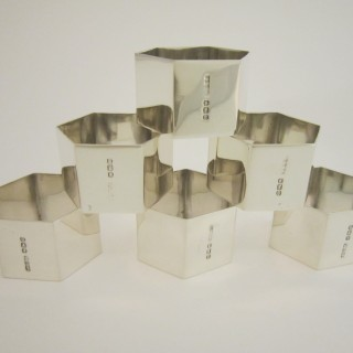 George VI Sterling silver napkin rings