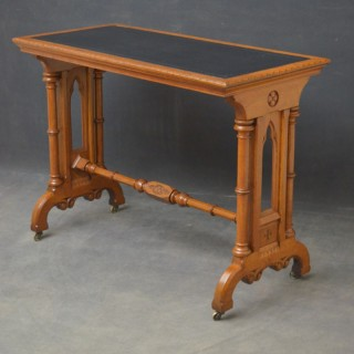 Victorian Reformed Gothic Oak Table