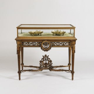 A Tour de Force Table Vitrine in the Louis XVI Manner by Alfred-Emmanuel-Louis Beurdeley, of Paris
