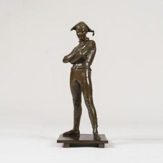 A Bronze Statuette of Arlequin, by Charles-René de Paul de Saint-Marceaux