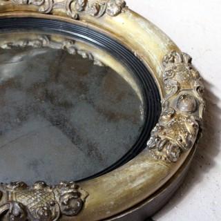 A Regency Period Giltwood & Gesso Convex Wall Mirror c.1825