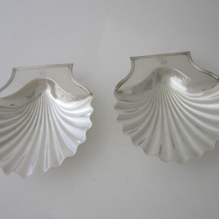 Antique George III Sterling silver butter shells