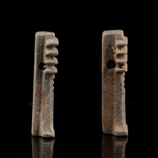 Selection of Faience Djed Pillar Amulets