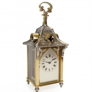 French Chateau Timepiece Carriage Clock