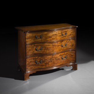 George III Serpentine Chest of Drawers, attributed to Thomas Chippendale